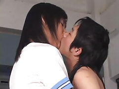 Asian fruits kiss each other