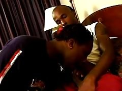 Passionate black gay gets stuffed heavily