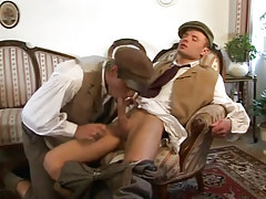 Young man-lover sucks tasty cock