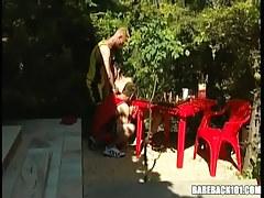 Three teenage gays suck cocks outdoor