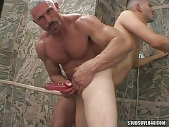 Silver grandpa gay wild dildofucks poor twink
