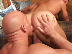 Mature gay licks inflexible gentlemen hole