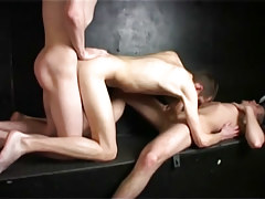 Ambrose small enjoys double cocks from bruno and charlie in 4 episode