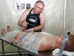 Taped Down Gay Drained Of Dick water - Alex Silvers And Sebatian Kane